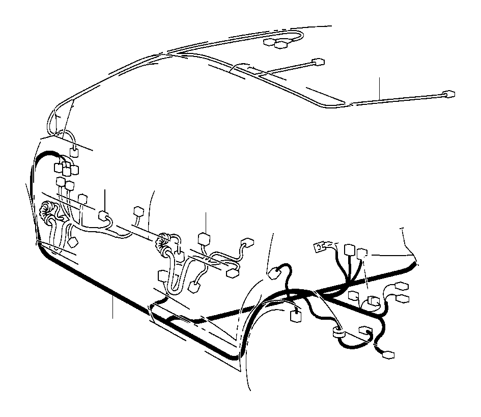 Toyota Corolla Wire, floor. Electrical, wiring