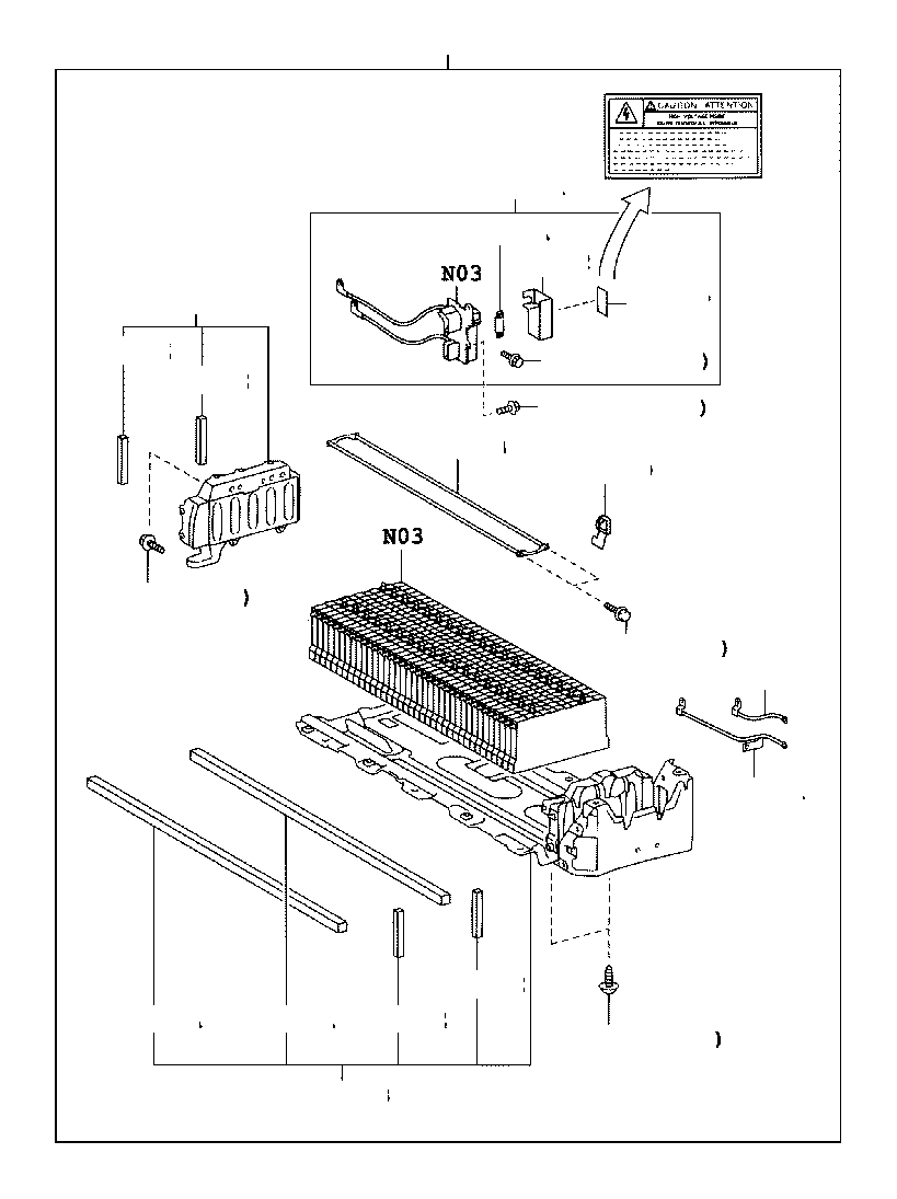 Toyota Prius Plug assembly, electric vehicle battery