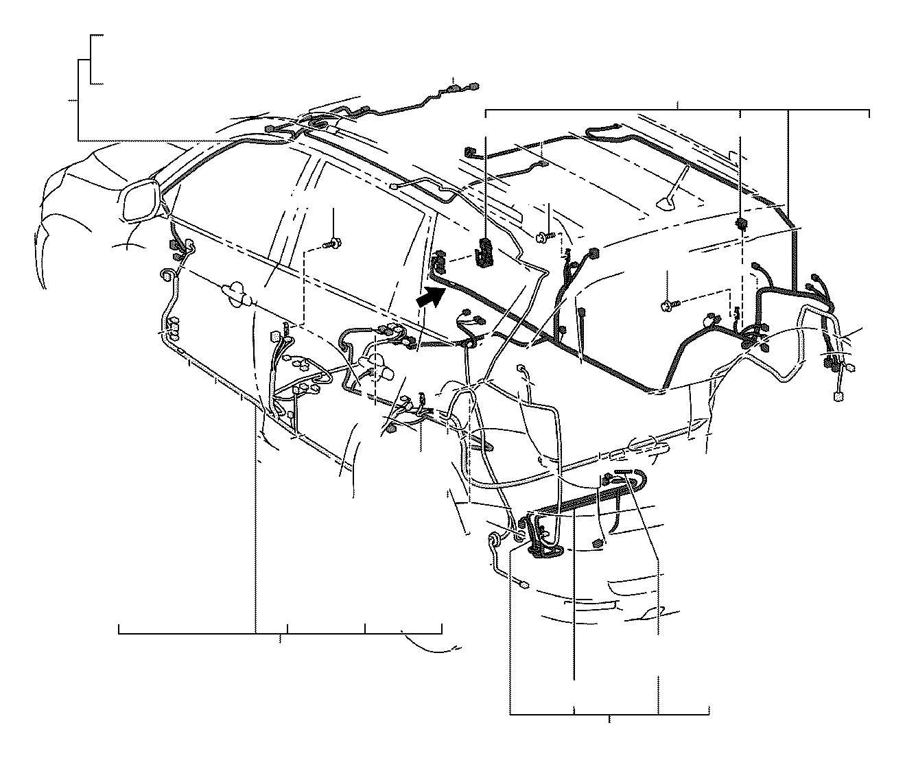 Toyota RAV4 Wire, floor, no. 2. Electrical, limd, wiring
