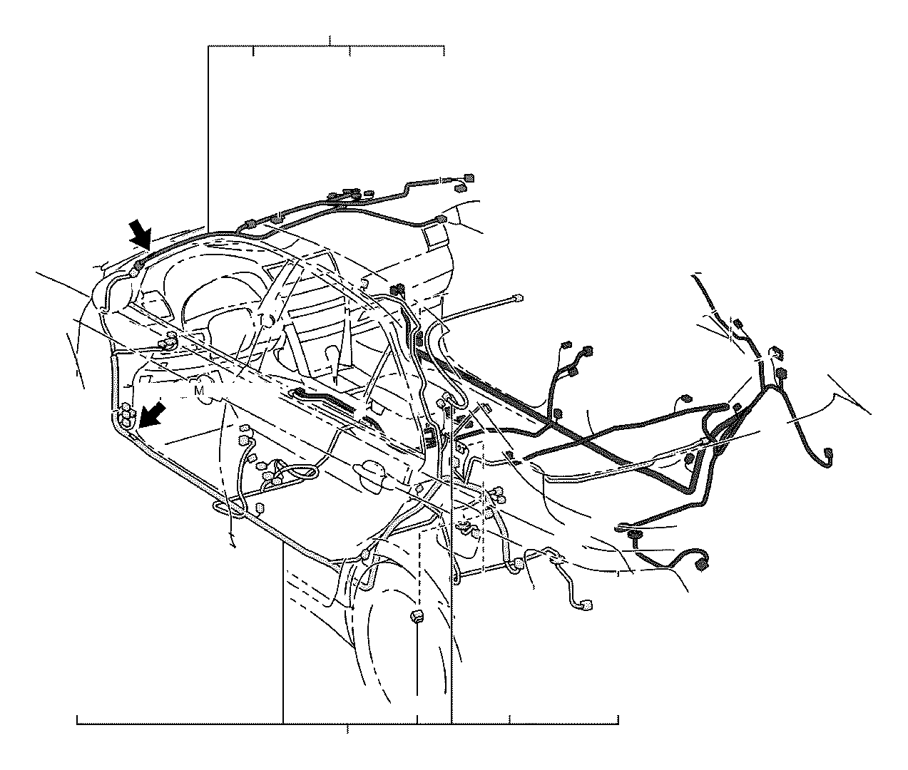 Toyota Camry Wire, floor. Without, wiring, electrical