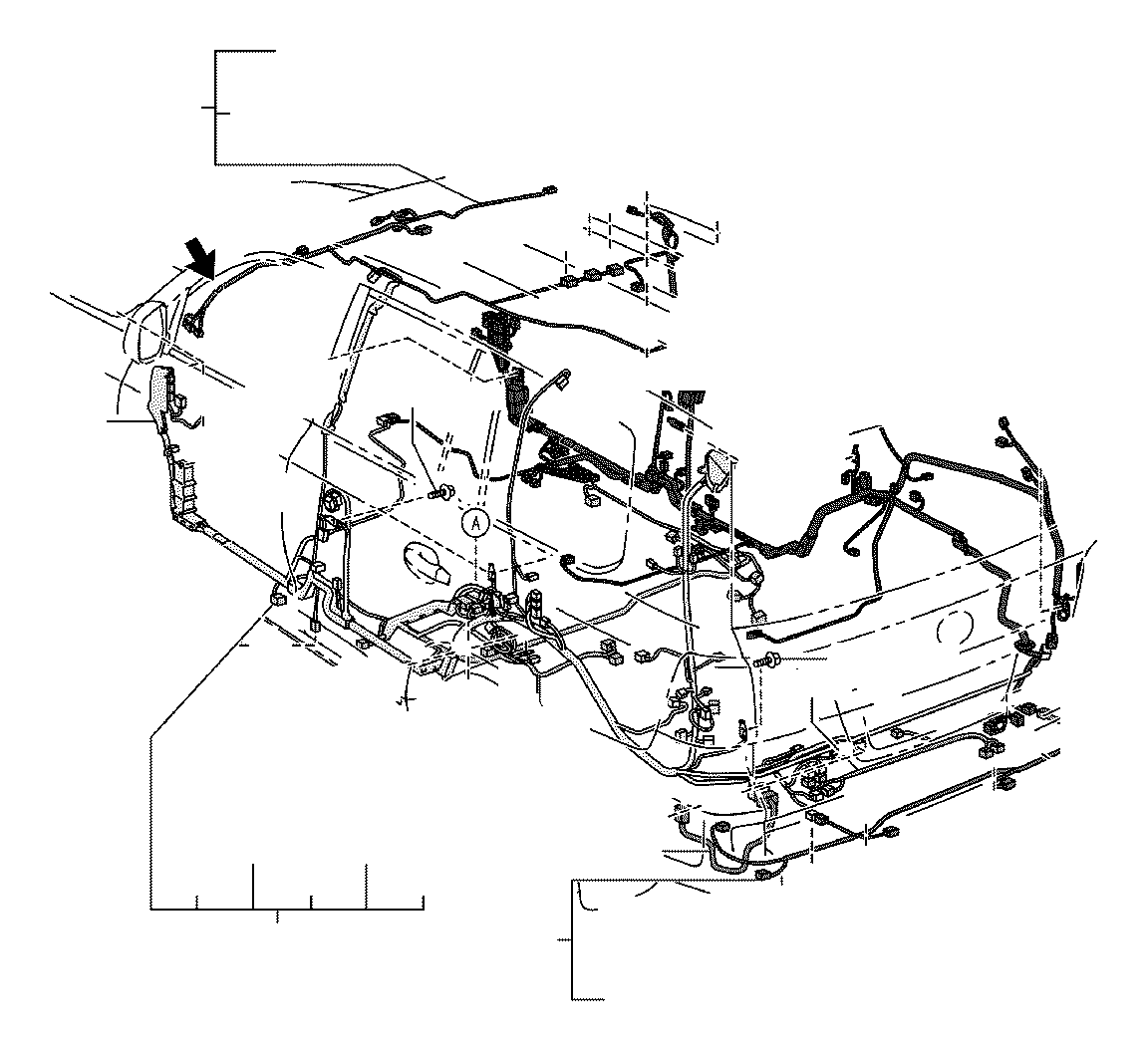 Toyota Land Cruiser Wire, frame. Electrical, wiring, clamp