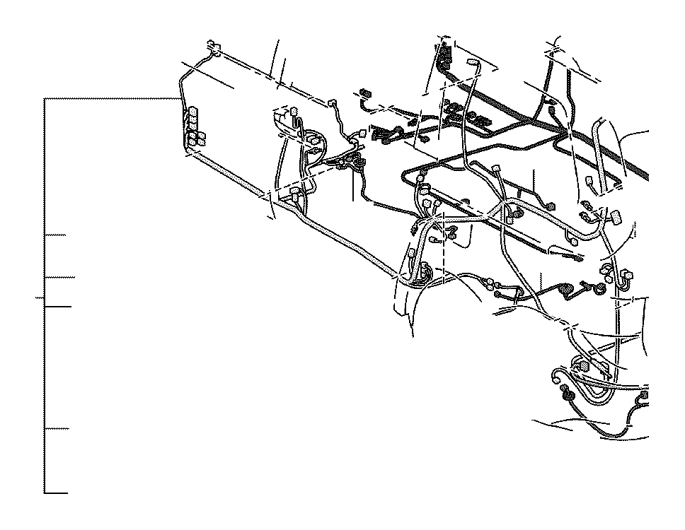 Toyota Sienna Wire, frame, no. 2. Engine, room, clamp