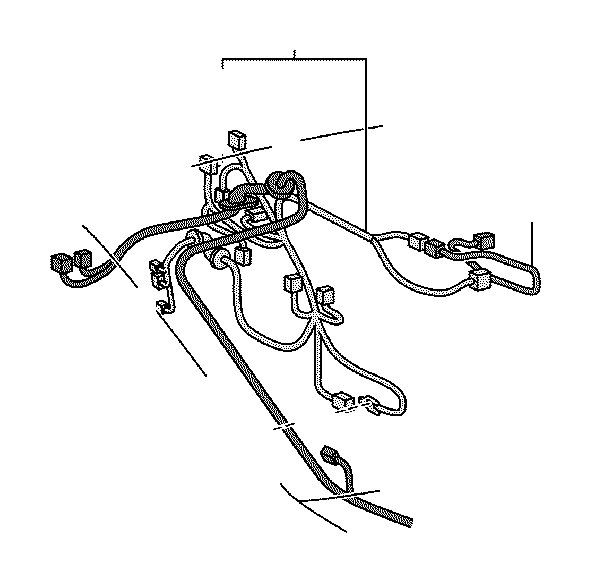 Scion TC Wire, front door, no. 2, right. Connector, clamp