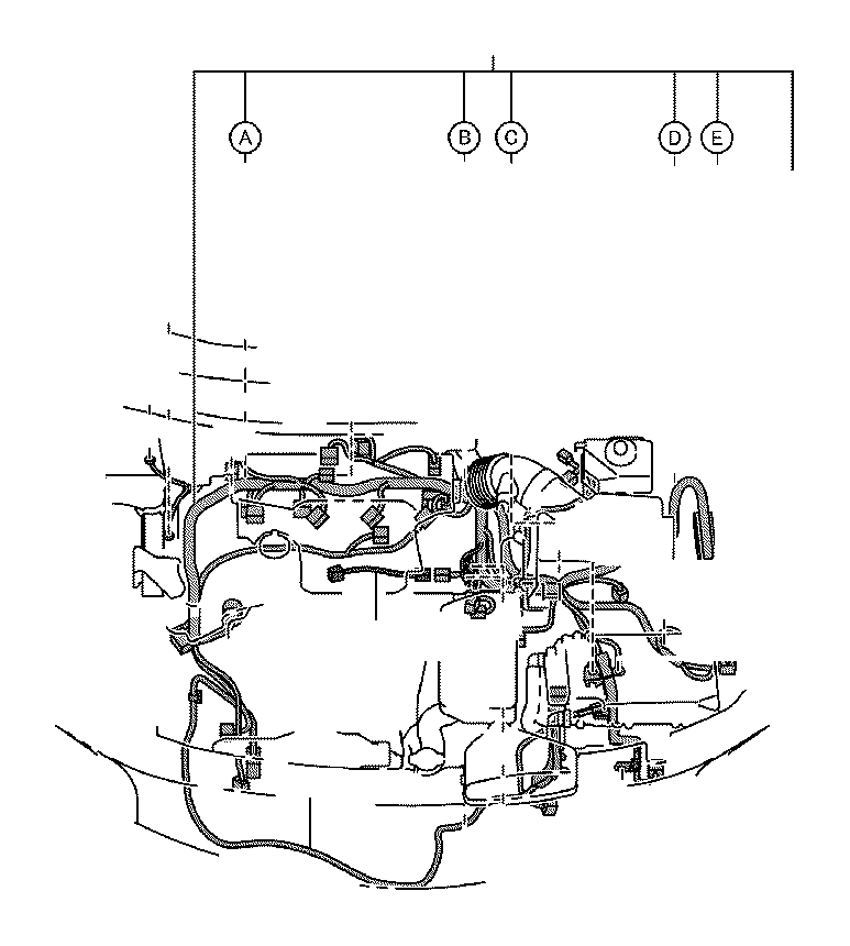Toyota Camry Wire, engine, no. 4. Wiring, electrical