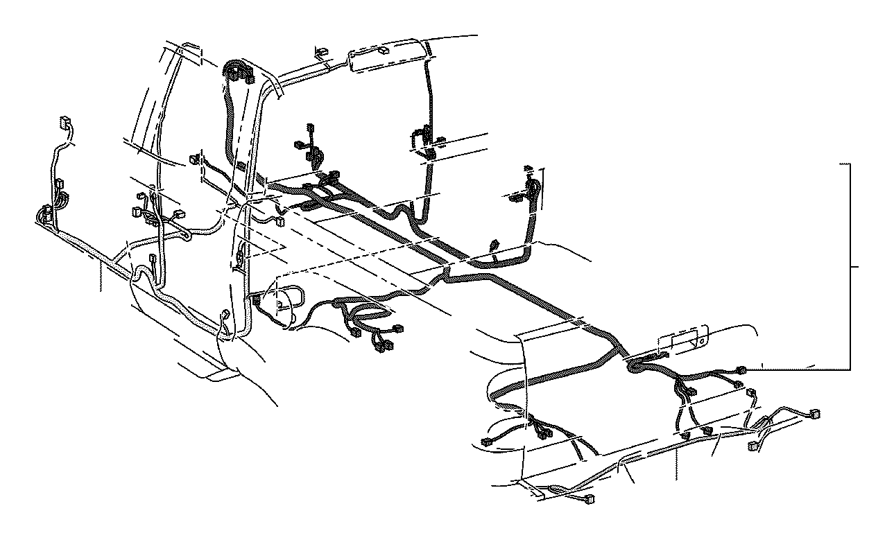 Toyota Tundra Wire, floor. Electrical, dcb, wiring