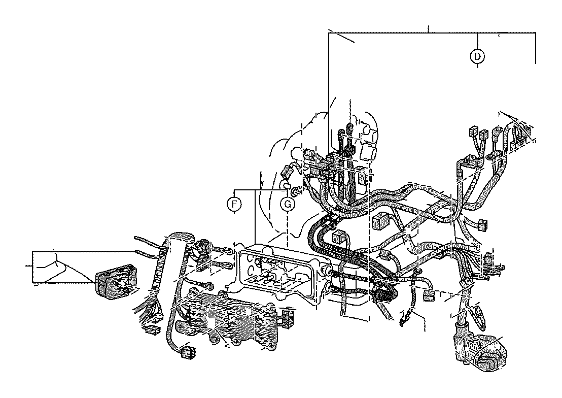 Toyota RAV4 Wire, motor compartment, no. 4. Electrical