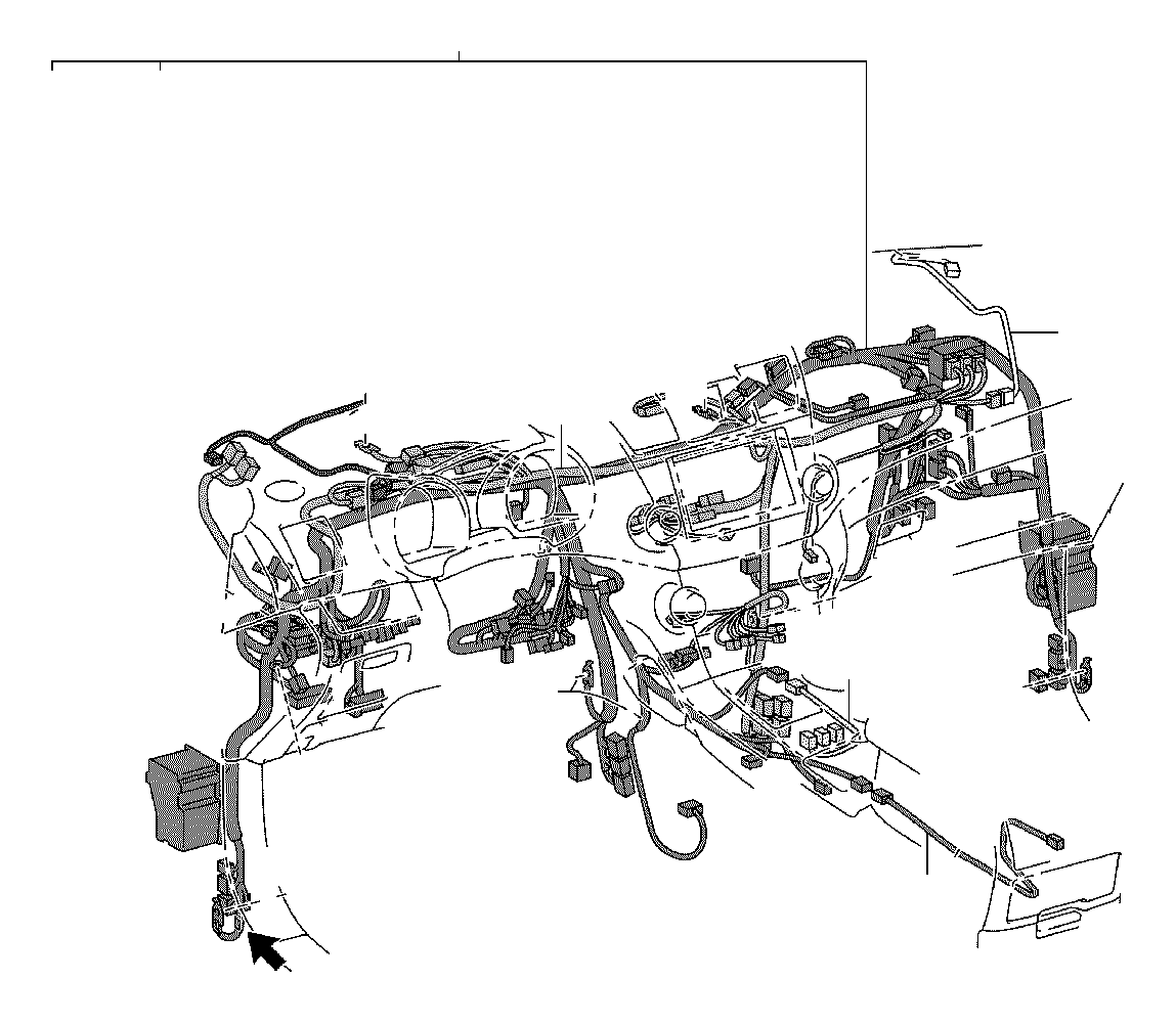 Toyota Highlander Wire, instrument panel, no. 2