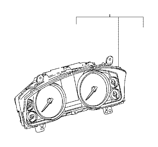 Toyota Land Cruiser Meter assembly, combination