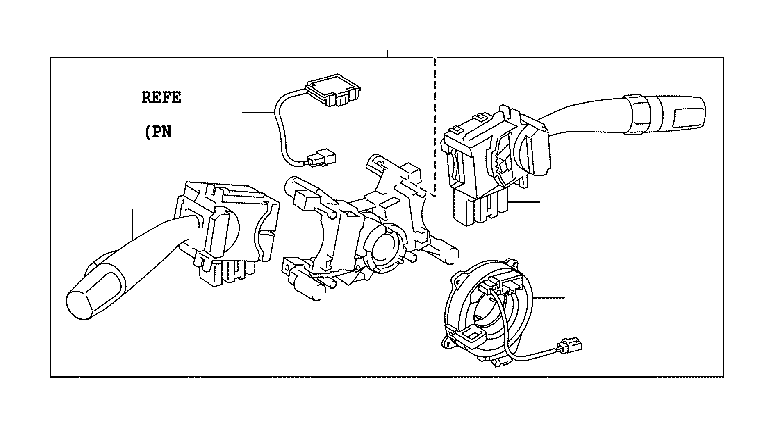 Toyota Sequoia Switch assembly, headlamp dimmer. Fog