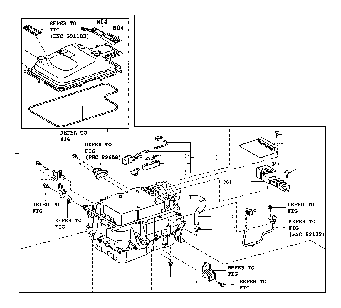 Toyota Highlander Harness sub-assembly, wiring air