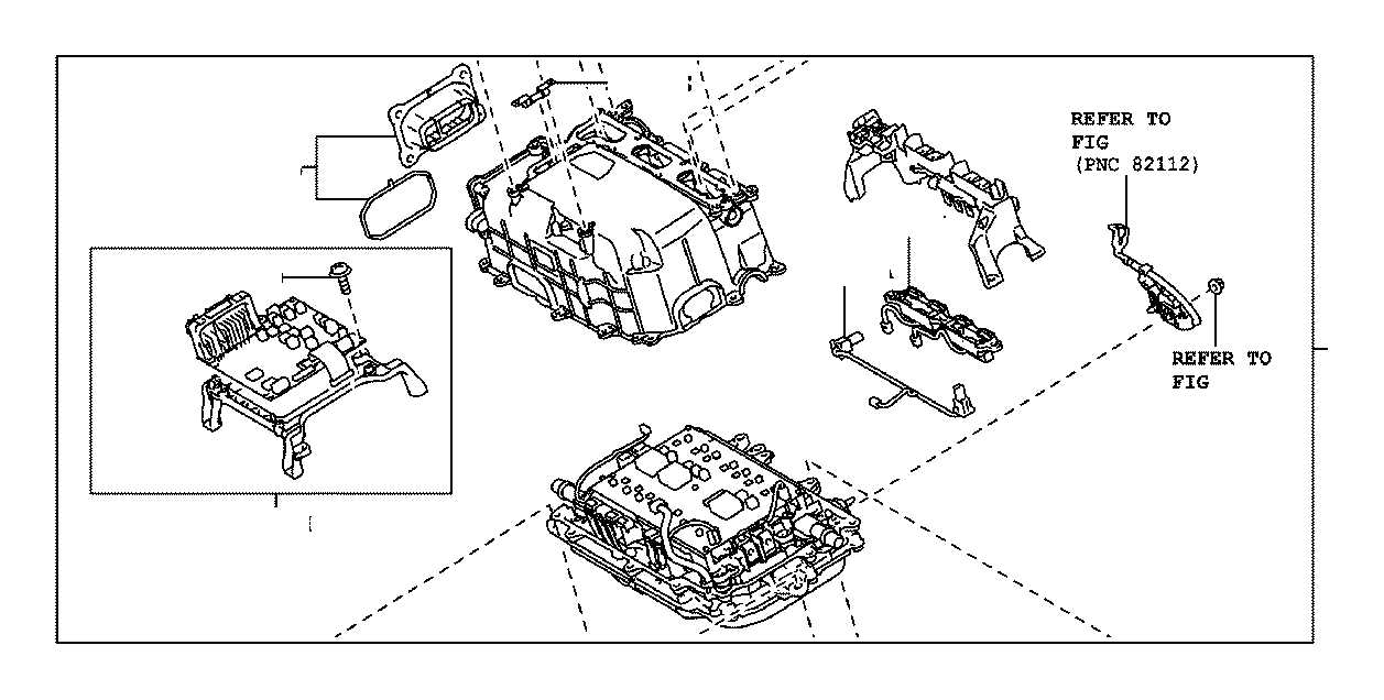 Toyota Prius Inverter assembly, with converter. Electrical