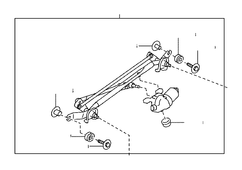 Toyota 86 Motor & link assembly, front wiper. Electrical