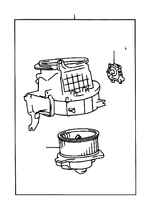 Toyota Sequoia Motor sub-assembly, heater blower, with fan