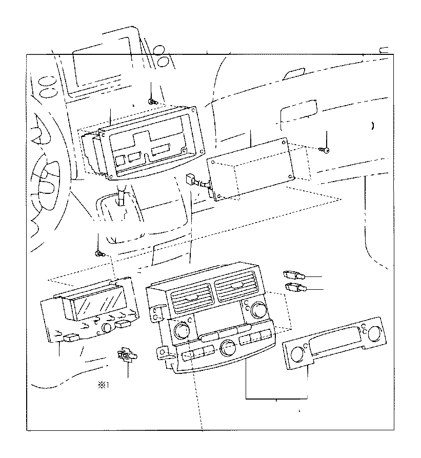 Toyota Sienna Amplifier assembly, air conditioner