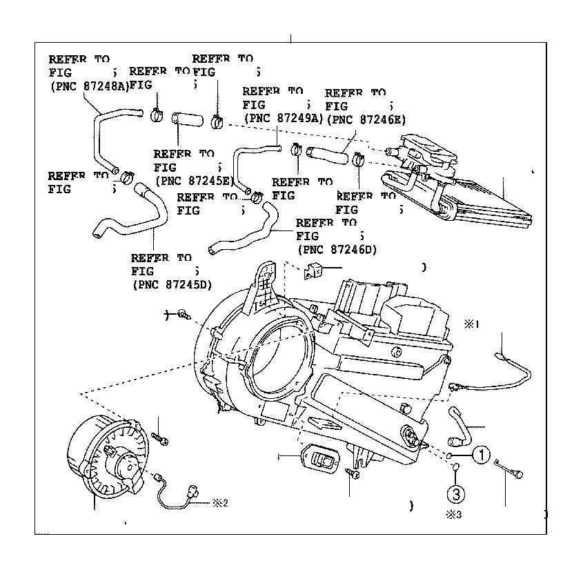 Toyota Sienna Motor sub-assembly, cooling unit, with fan