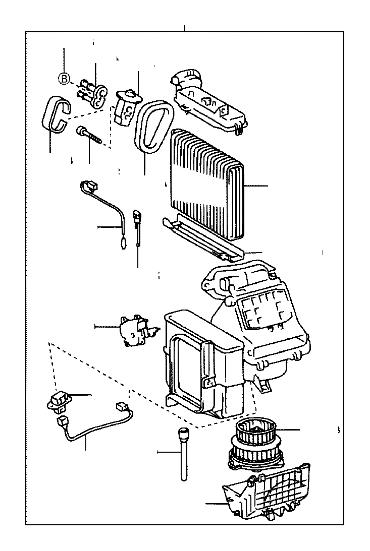 Toyota Echo Motor sub-assembly, blower with fan
