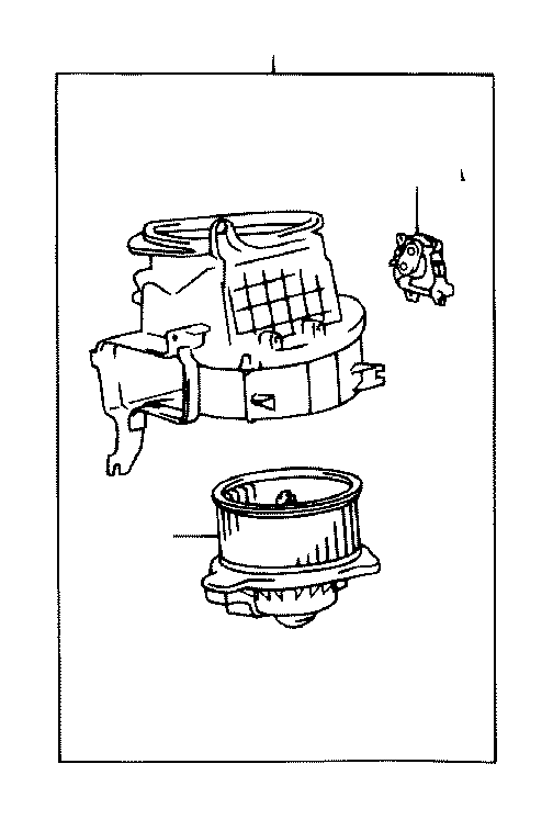 Toyota Tundra Motor sub-assembly, heater blower, with fan