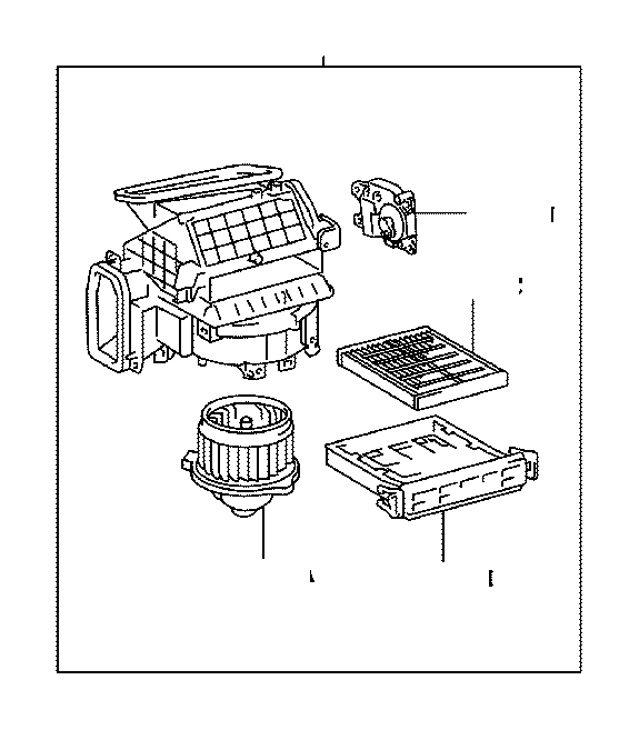 Toyota Sienna Motor sub-assembly. Blower with fan; cooling