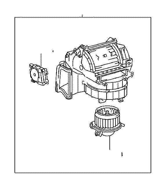 Toyota Highlander Motor sub-assembly, blower with fan