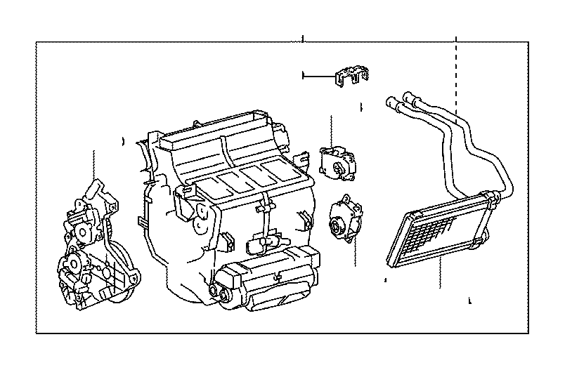 Toyota Sequoia Servo sub-assembly, damper(for cooling unit