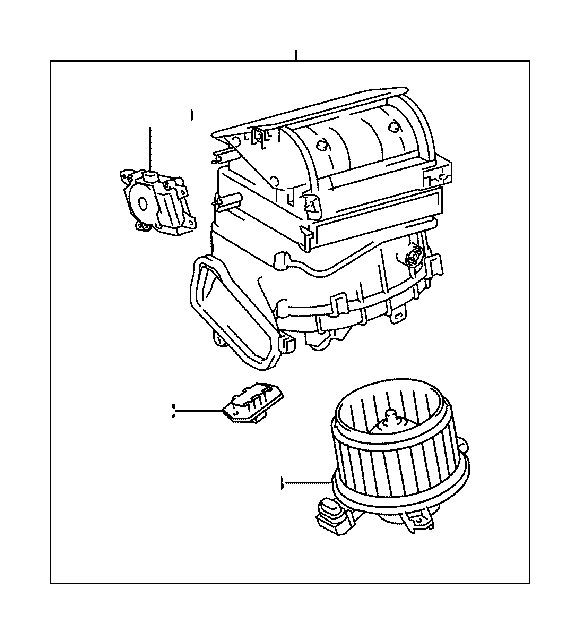 Toyota Matrix Motor sub-assembly, blower with fan