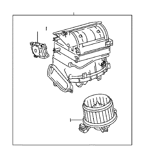 Toyota Corolla Hvac blower case (lower). Assembly, air