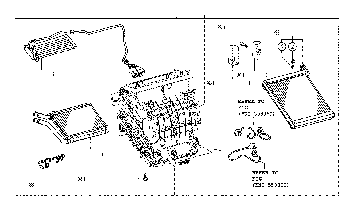 Toyota Corolla A/c expansion valve. Valve, cooler
