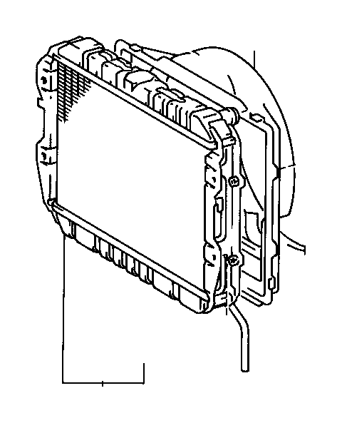 Toyota Truck Shroud sub-assembly, fan. Towing, package