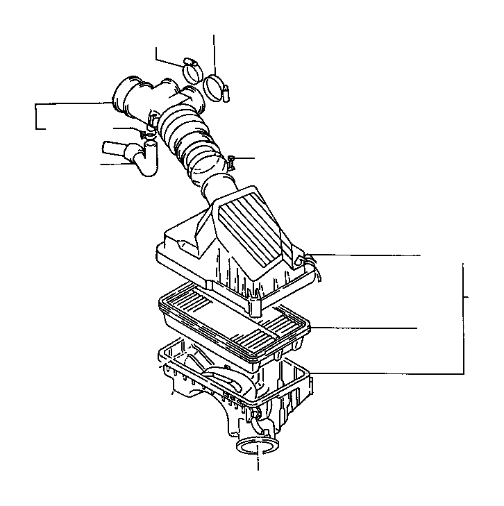 Toyota Corolla Cap sub-assembly, air cleaner. Engine