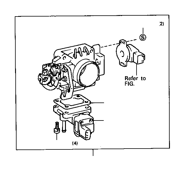 Toyota Tercel Fuel Injection Idle Air Control Valve. Valve