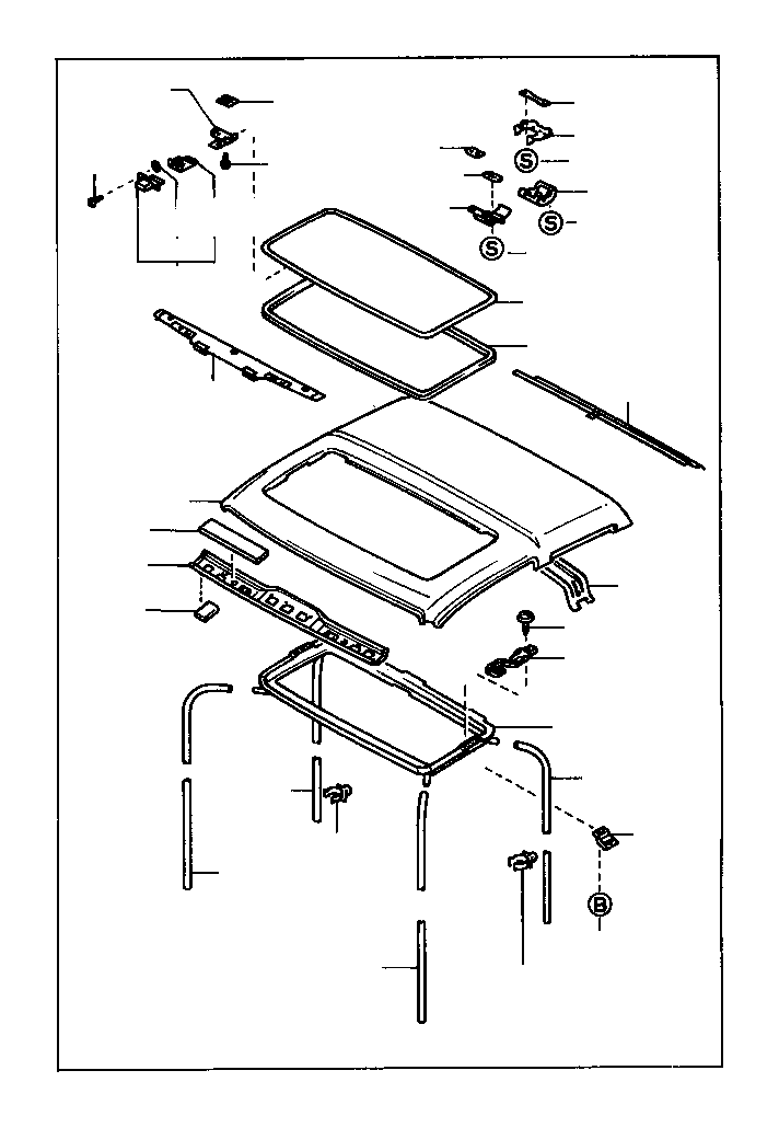 Toyota Truck Weatherstrip. Removable roof, rear; sliding