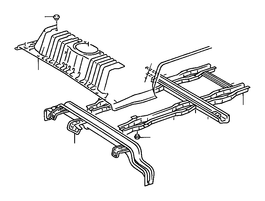 Toyota Land Cruiser Member sub-assembly, rear floor cross