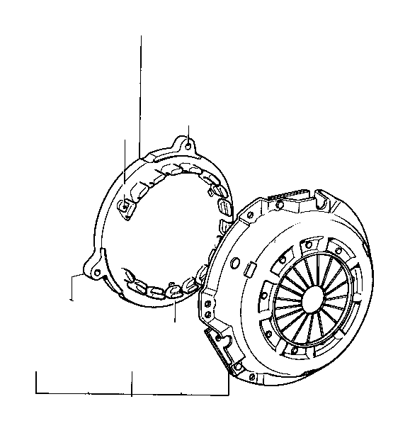 Toyota Corolla Cover sub-assembly, clutch. Std, driveline