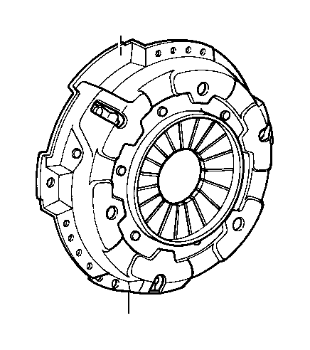 Toyota Tercel Cover assembly, clutch. Transmission