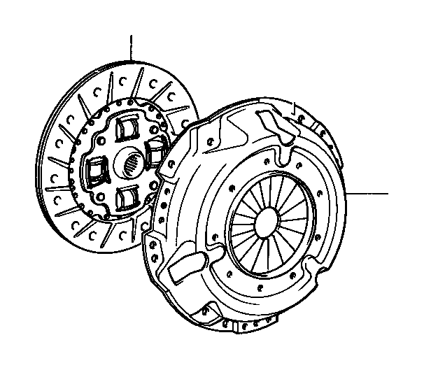 Toyota Paseo Disc assembly, clutch. Disc clutch