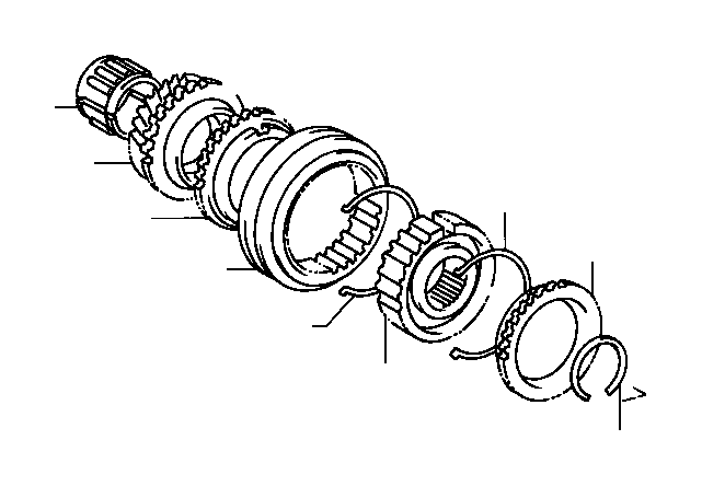Toyota Corolla Gear sub-assembly, 3rd. Transmission