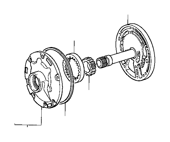 Toyota Tacoma Gear, front oil pump drive. Atm