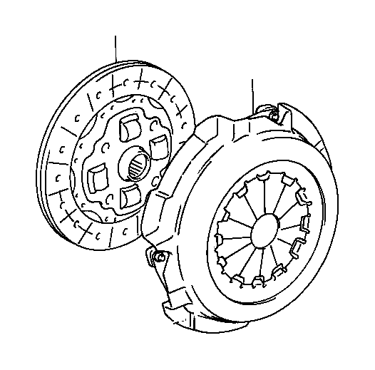Toyota Tercel Cover assembly, clutch. Clutch cover
