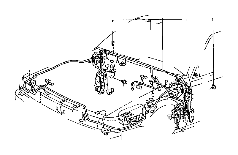 Toyota Camry Wire, cowl. Wiring, electrical, cruise