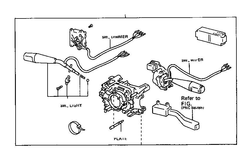 Toyota Land Cruiser Switch assembly, light control, no. 1