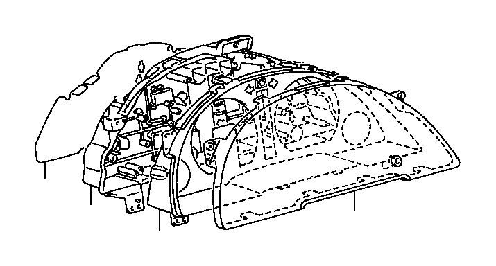 Toyota Tercel Case, combination meter. Electrical