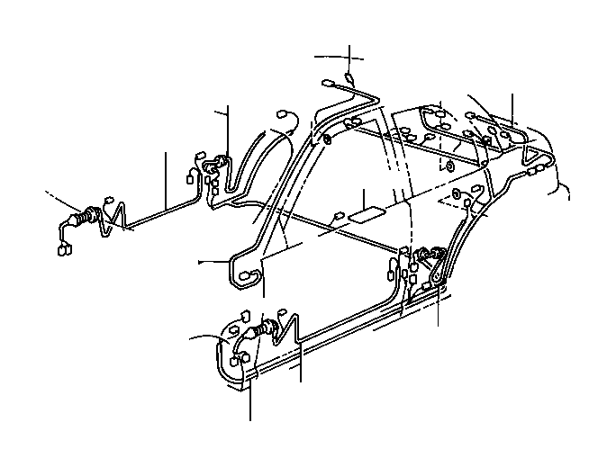 Toyota Tercel Wire, front door, right. Electrical, wiring
