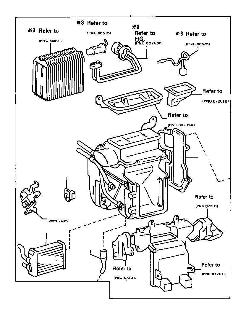 Toyota Camry Servo sub-assembly, damper. Air, conditioning
