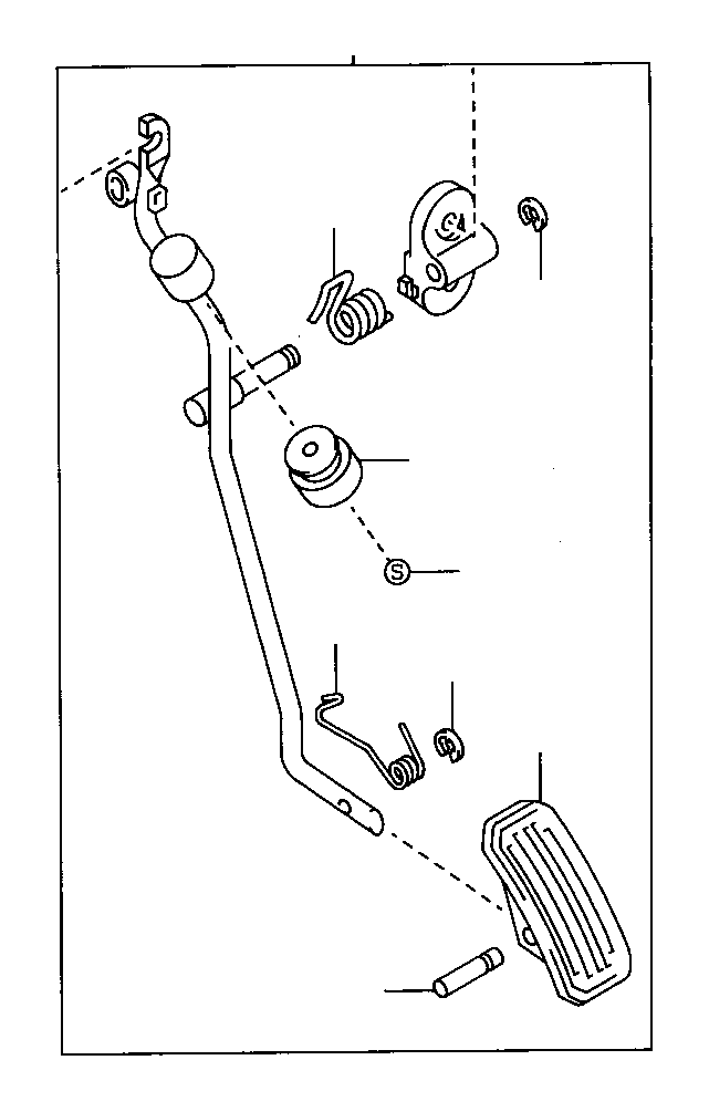 Toyota Corolla Rod assembly, accelerator pedal. Atm