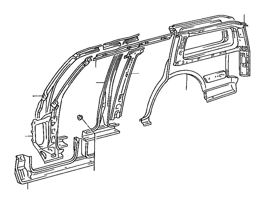 Toyota RAV4 Pillar sub-assembly, front body, outer right