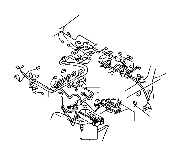 Toyota RAV4 Wire, engine, no. 3. Electrical, cnd, wiring
