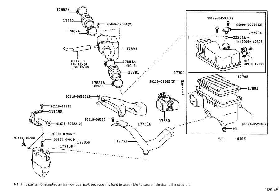 Lexus ES 300 Valve assembly, intake air control, no. 3