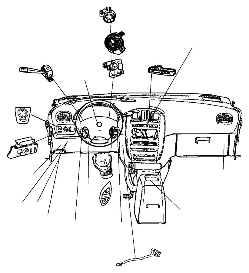 Chrysler PT Cruiser Ignition CYLINDER. Ignition Switch