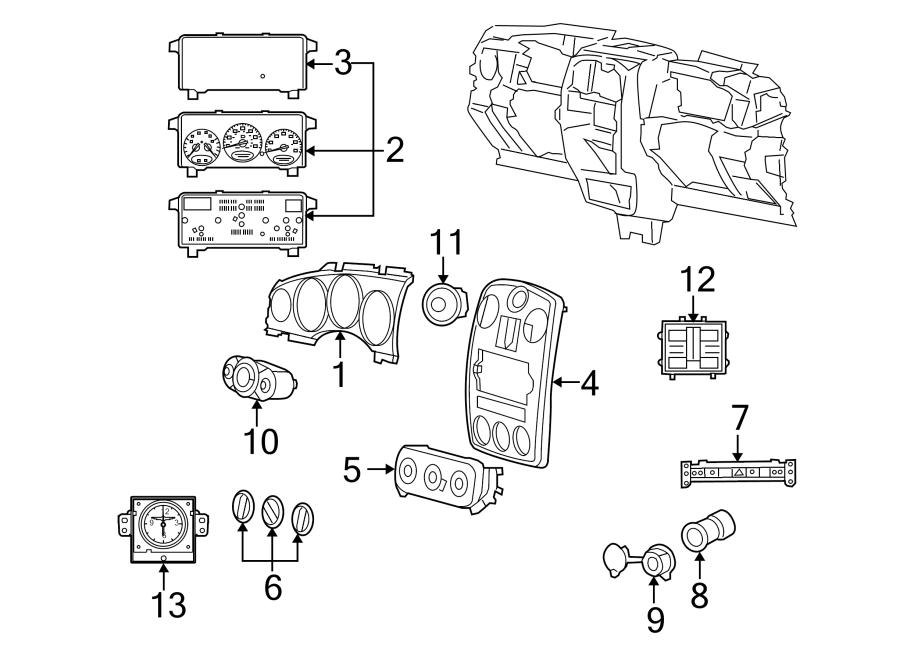 Chrysler PT Cruiser Switch. Release. Lid. Trunk