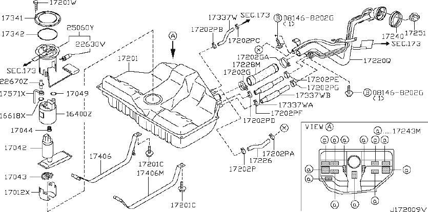 Nissan Maxima Fuel Filter. Strainer Fuel. TANK, COMPL